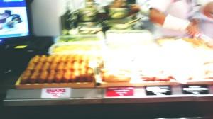 Tempura yang dipajang  (Maaf fotonya blur)