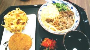 Nikku Udon, Beef Croquette, dan Kakiage. (ebi kakiage tidak sempat kefoto)