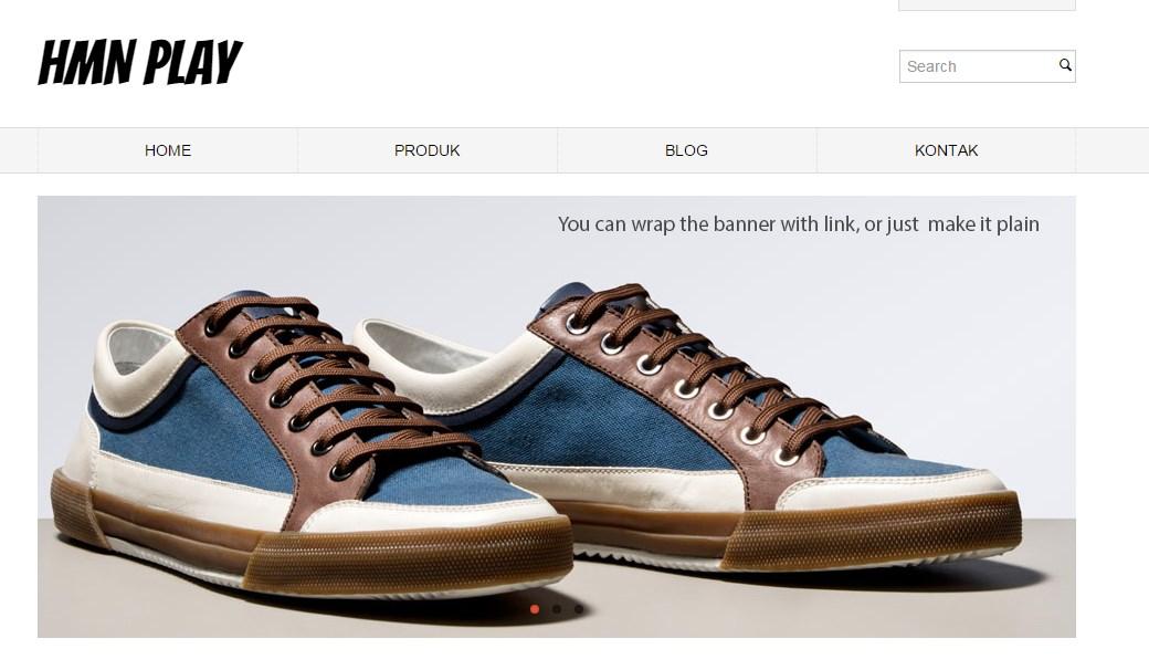 Tampilan situs toko online yantg saya buat di Jarvis Store dengan Singkat