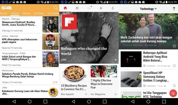 Aplikasi kurasi berita sebagai inspirasi dan informasi