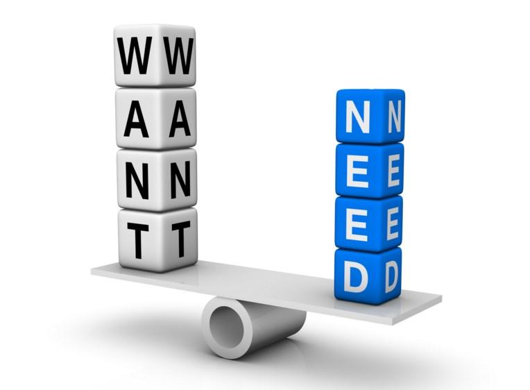 Kebutuhan lebih utama dibandingkan keinginan Sumber: tannerfriedman.com