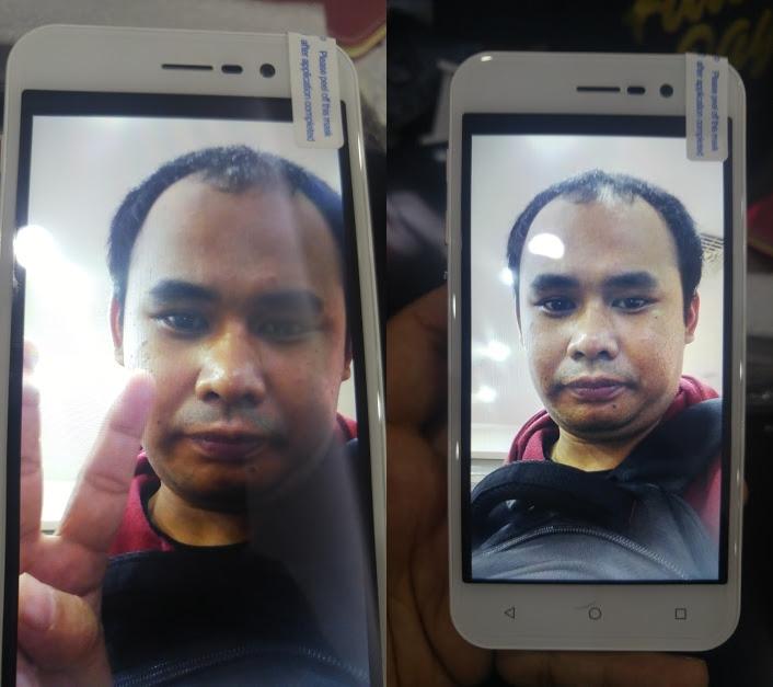 Selfie dengan dua mode berbeda