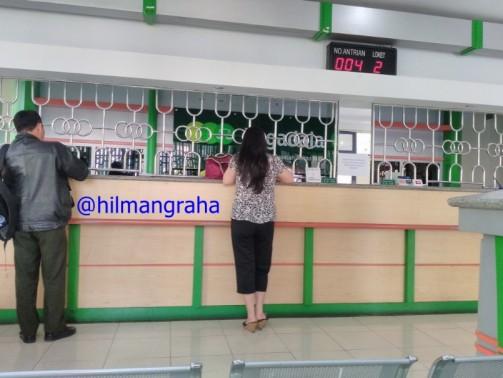 Suasana pagi di kantor Pegadaian Pungkur Bandung