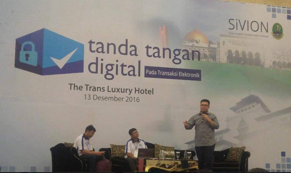 Seminar Tanda Tangan Digital di Bandung