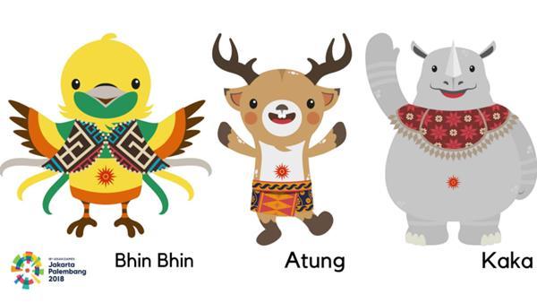 maskot asian games 2018